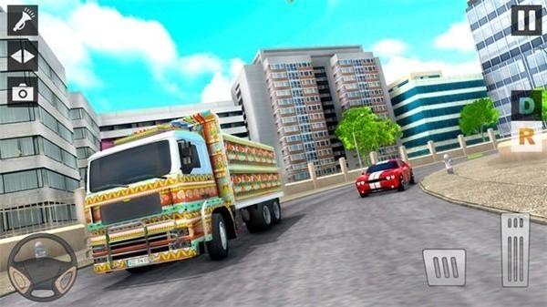 城市运输货车停车场